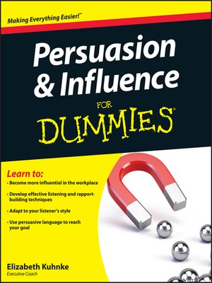 cover image of Persuasion and Influence For Dummies