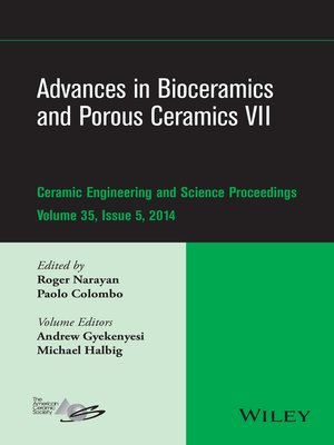 cover image of Advances in Bioceramics and Porous Ceramics VII