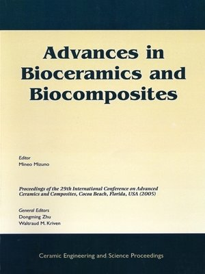 cover image of Advances in Bioceramics and Biocomposites