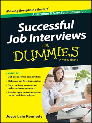 cover image of Successful Job Interviews For Dummies
