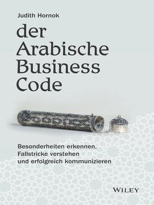 cover image of Der Arabische Business Code