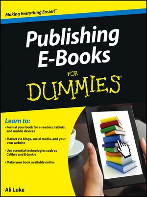 cover image of Publishing E-Books For Dummies