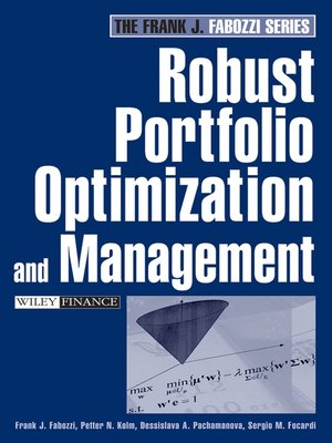 cover image of Robust Portfolio Optimization and Management