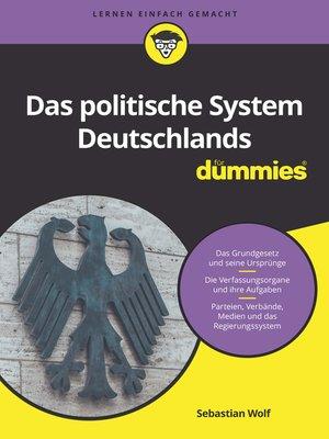 cover image of Das politische System Deutschlands für Dummies