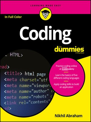 cover image of Coding For Dummies