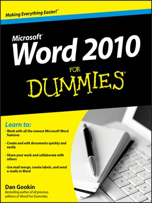 cover image of Word 2010 For Dummies
