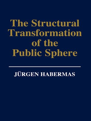 cover image of The Structural Transformation of the Public Sphere