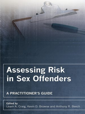 cover image of Assessing Risk in Sex Offenders