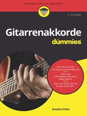 cover image of Gitarrenakkorde für Dummies