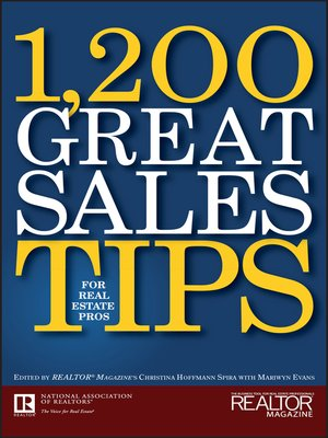 cover image of 1,200 Great Sales Tips for Real Estate Pros