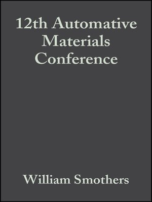 cover image of 12th Automative Materials Conference