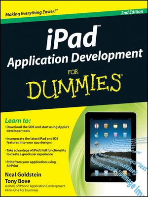 cover image of iPad Application Development For Dummies