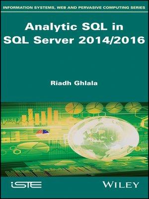 cover image of Analytic SQL in SQL Server 2014/2016
