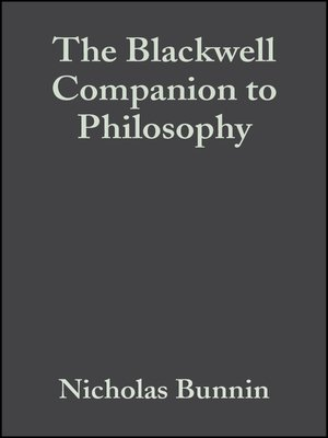 cover image of The Blackwell Companion to Philosophy