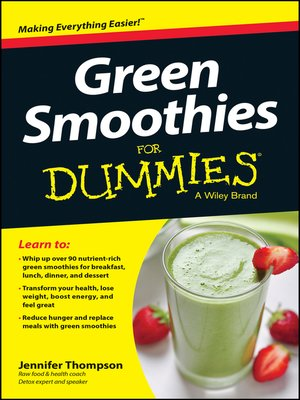 cover image of Green Smoothies For Dummies