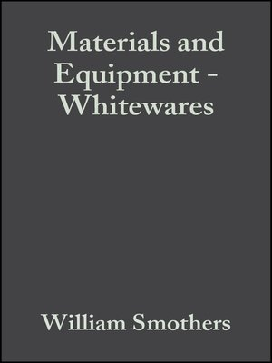 cover image of Materials and Equipment--Whitewares