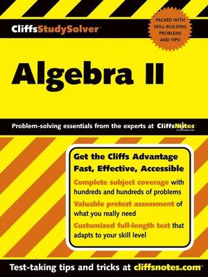 cover image of CliffsStudySolver Algebra II