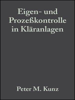cover image of Eigen- und Prozeßkontrolle in Kläranlagen