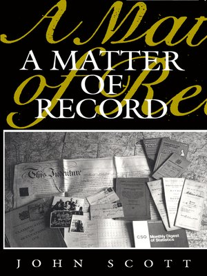 cover image of A Matter of Record