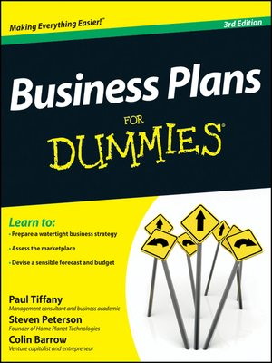 Business Plans For Dummies By Paul Tiffany Overdrive