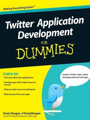 cover image of Twitter Application Development For Dummies