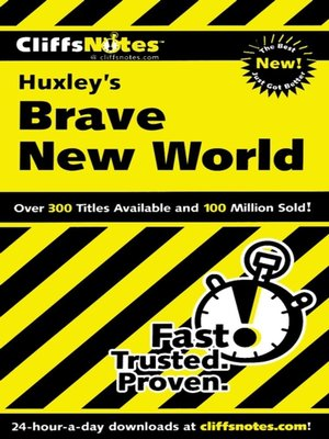 cover image of CliffsNotes on Huxley's Brave New World
