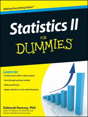 cover image of Statistics II for Dummies