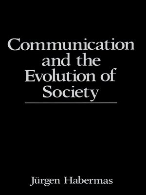 cover image of Communication and the Evolution of Society