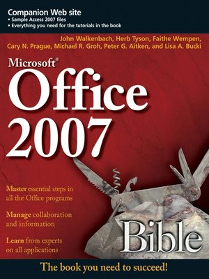 cover image of Office 2007 Bible