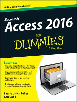 cover image of Access 2016 For Dummies