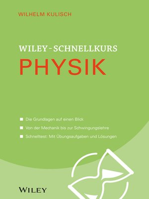 cover image of Wiley-Schnellkurs Physik