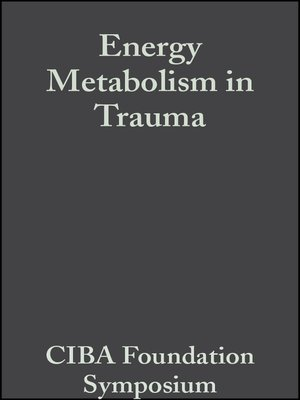 cover image of Energy Metabolism in Trauma