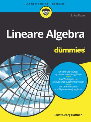 cover image of Lineare Algebra für Dummies
