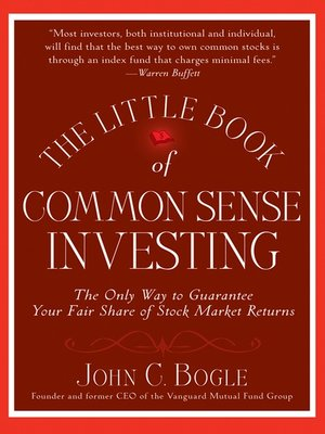cover image of The Little Book of Common Sense Investing