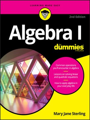 cover image of Algebra I For Dummies