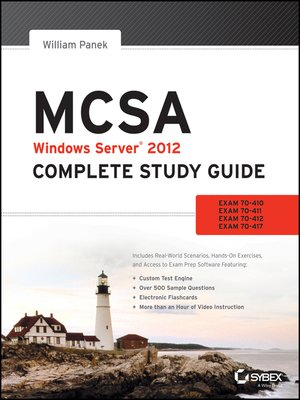 cover image of MCSA Windows Server 2012 Complete Study Guide