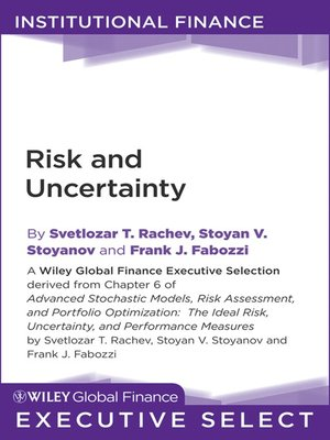 cover image of Advanced Stochastic Models, Risk Assessment, and Portfolio Optimization