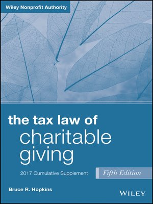 cover image of The Tax Law of Charitable Giving, 2017 Supplement