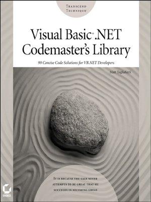 Visual Basic  NET Codemaster's Library by Matt Tagliaferri