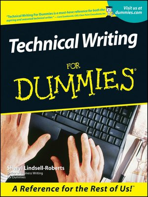 cover image of Technical Writing For Dummies