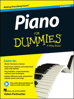 cover image of Piano For Dummies