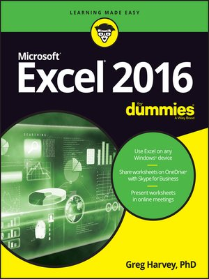 cover image of Excel 2016 For Dummies