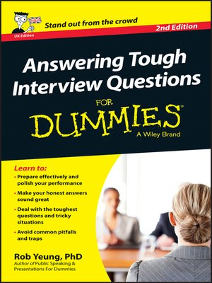 cover image of Answering Tough Interview Questions For Dummies