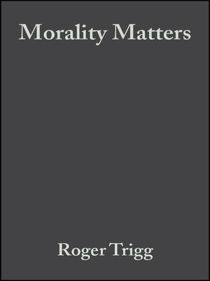 cover image of Morality Matters