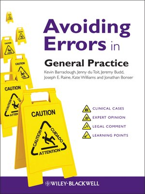 cover image of Avoiding Errors in General Practice