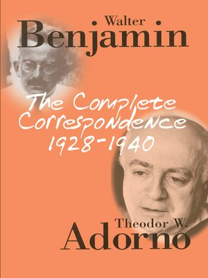 cover image of The Complete Correspondence 1928-1940