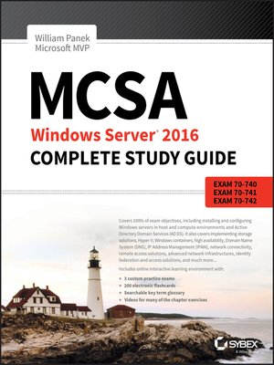 cover image of MCSA Windows Server 2016 Complete Study Guide