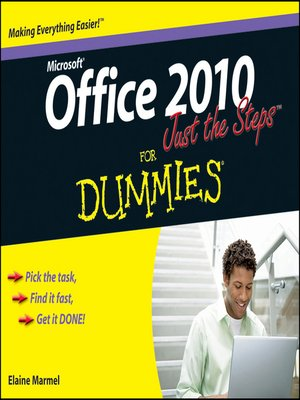 cover image of Office 2010 Just the Steps For Dummies