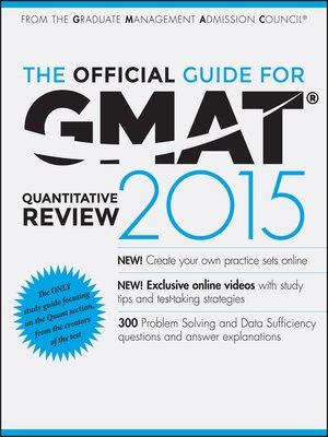 cover image of The Official Guide for GMAT Quantitative Review 2015 with Online Question Bank and Exclusive Video