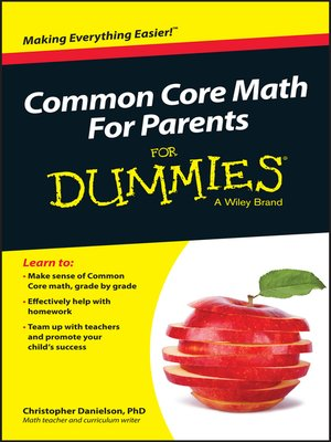 cover image of Common Core Math For Parents For Dummies with Videos Online